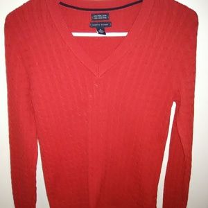 Tommy Hilfiger red pullover sweater